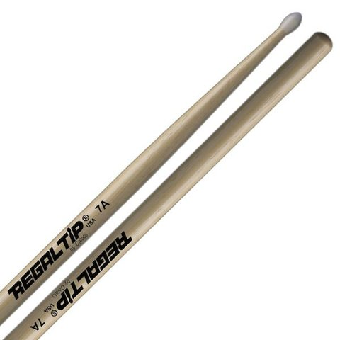 Regal Tip Classic Hickory Nylon Tip 7A Drumsticks
