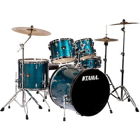 Tama Imperialstar 5 Piece Drumset In Hairline Blue Finish (22/10/12/16/14SD)
