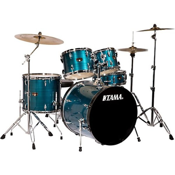 Tama Tama Imperialstar 5 Piece Drumset In Hairline Blue Finish (22/10/12/16/14SD)