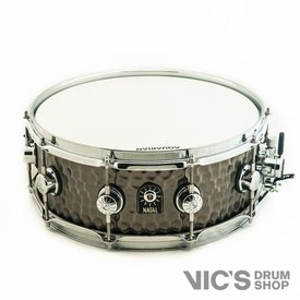 Natal Natal Hand Hammered 5.5x14 Steel Snare Drum in Nickel Finish