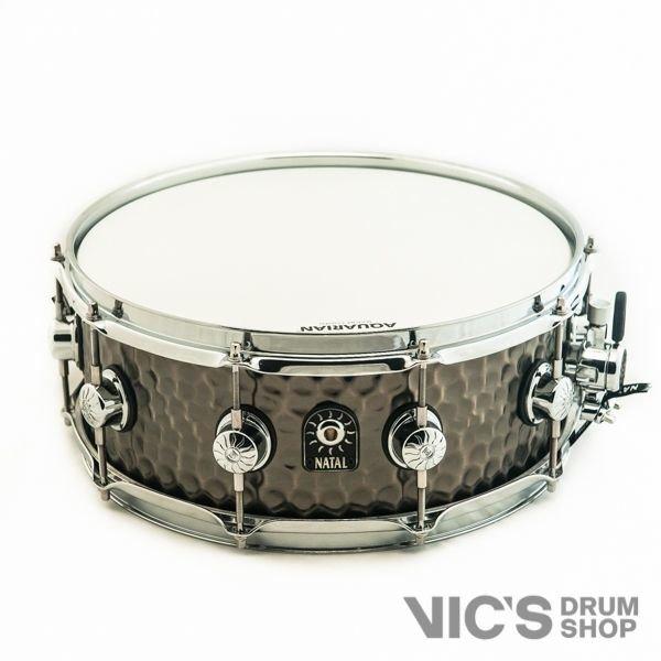 Natal Natal Hand Hammered 5.5x14 Steel Snare Drum in Nickel Finish