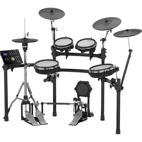 Roland V-Drums w/ one TD-25, two PDX-100, two PD-85BK, two CY-12C, one CY-13R,  one KD-9, one VH-11,one MDS-9SC, four pad mounts, three cymbal mounts, one module mount and cable set