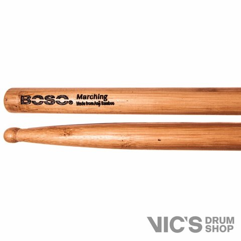 Boso Natural Marching Round Tip Drumsticks