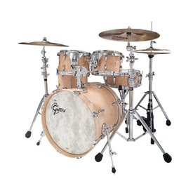 Gretsch *CLOSEOUTA* Gretsch 130th Anniversary 5 Piece Shell Pack In Natural Satin Nitrocellulose Lacquer Finish Over Maple Birdseye Veneer