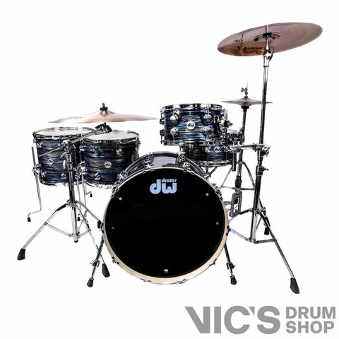 DW Collector's Maple Clinic Kit 4 Piece Shell Pack in FP Peacock Oyster