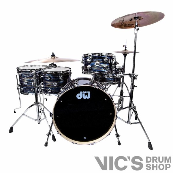 DW DW Collector's Maple Clinic Kit 4 Piece Shell Pack in FP Peacock Oyster