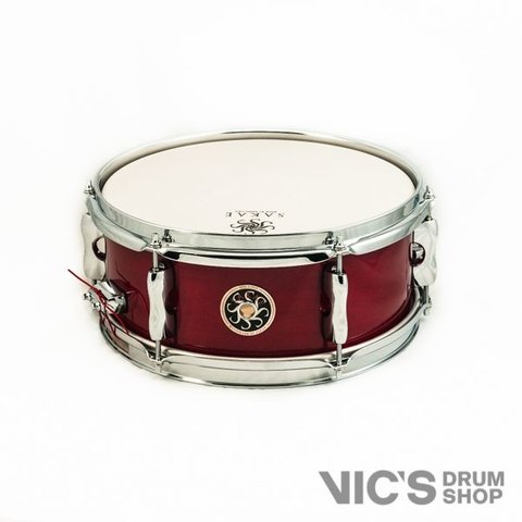 Sakae 5x12 Maple Effect Snare Drum in Blood Lacquer