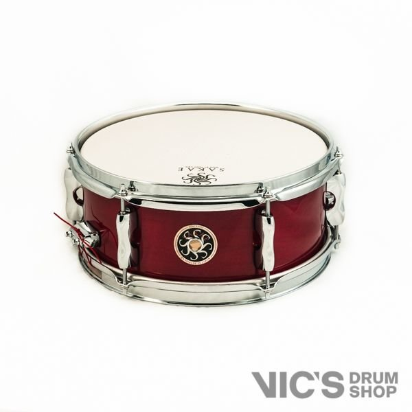Sakae Sakae 5x12 Maple Effect Snare Drum in Blood Lacquer
