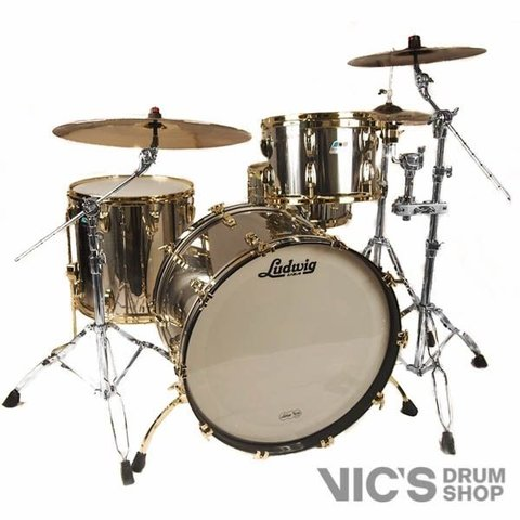 Ludwig USA Stainless Steel Chief Edition ProBeat 3 Piece Shell Pack