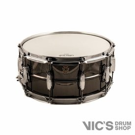 Ludwig Ludwig USA Black Beauty 6.5x14 Smooth Shell Snare Drum w/ Imperial Lugs