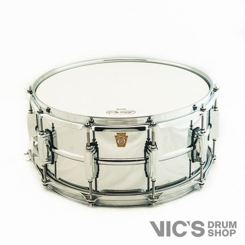 Ludwig USA Supraphonic 400 6.5x14 Smooth Chrome Plated Aluminum Shell Snare Drum