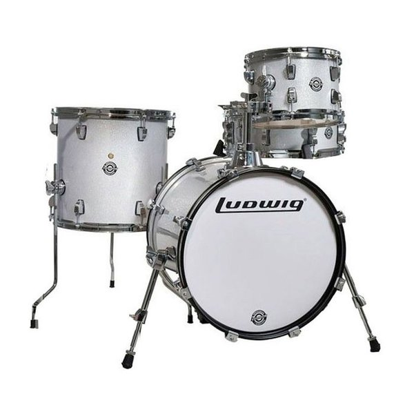 Ludwig Ludwig Breakbeats By Questlove 4 Piece Shell Pack In White Sparkle Finish