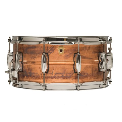 Ludwig USA Copper Phonic 6.5x14 Snare Drum; Patina Finish