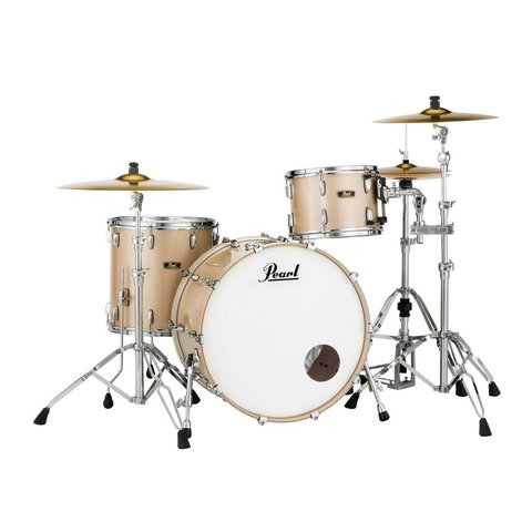 Pearl Limited Edition FW Wood Fiberglass 3 Piece Shell Pack in Platinum Mist