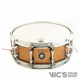 Sakae Sakae 5.5x14 Maple Snare Drum in Gold Champagne Lacquer
