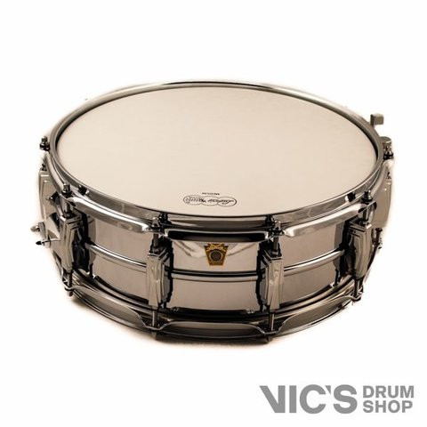 Ludwig USA Supraphonic 400 5x14 Smooth Chrome Plated Aluminum Shell Snare Drum