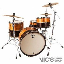 C&C C&C Custom 3 Piece Shell Pack in 2 Tone w/ Aged Nickel Hardware