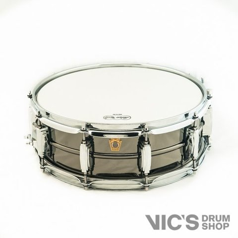Ludwig USA Black Beauty 5x14 Smooth Shell Snare Drum w/ Imperial Lugs