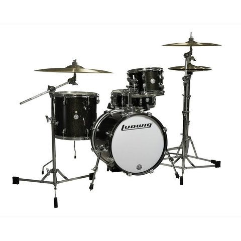 Ludwig Breakbeats By Questlove 4 Piece Shell Pack In Black-Gold Finish
