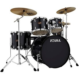 Tama Tama Imperialstar 5 Piece Ready-To-Rock Drumset w/ Hardware And Cymbals in Hairline Black
