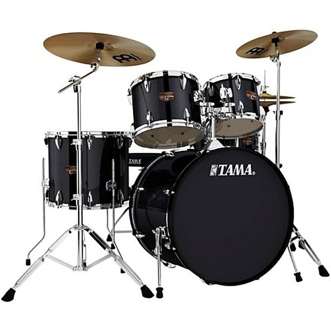 Tama Imperialstar 5 Piece Ready-To-Rock Drumset w/ Hardware And Cymbals in Hairline Black