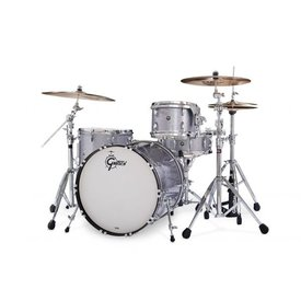 Gretsch *CLOSEOUTA* Gretsch 130th Anniversary Brooklyn 4 Piece Shell Pack In Pewter Sparkle Nitron Finish