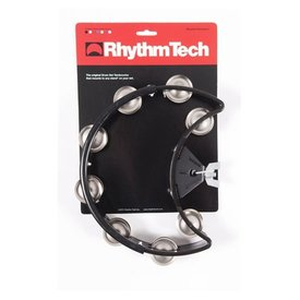 Rhythm Tech Rhythm Tech Drum Set Tambourine-Black-Nickel Jingles