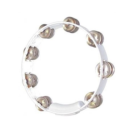 Rhythm Tech 10 True Colors Tambourine-White