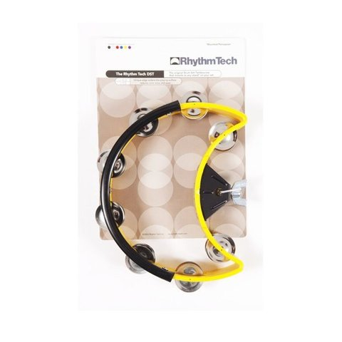 Rhythm Tech Drum Set Tambourine-Yellow-Nickel Jingles