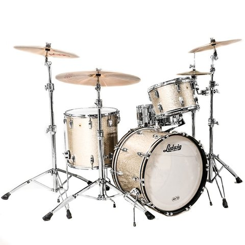 Ludwig USA Legacy Classic Mahogany 3 Piece FAB Shell Pack in Nickel Sparkle