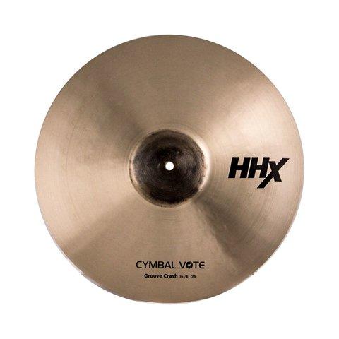 """Sabian Prototype HHX 16"""" CymbalVote Groove Crash Cymbal"""