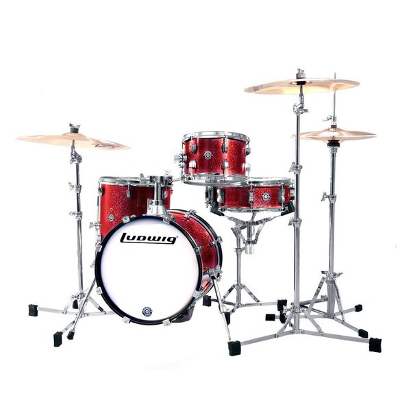 Ludwig Ludwig Breakbeats by Questlove 4 Piece Shell Pack in Wine Red Sparkle Finish