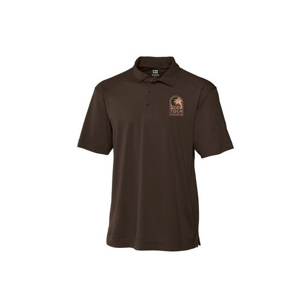 Toca Toca Percussion Cutter & Buck Brown Polo Shirt - Large