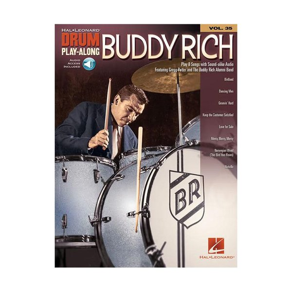 Hal Leonard Buddy Rich Drum Play-Along; Book w/ Interactive Audio