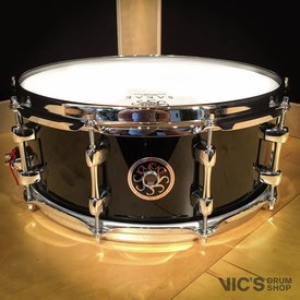 Sakae Sakae 5.5x14 Birch Snare Drum in Real Black