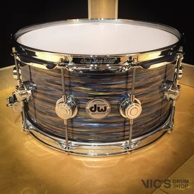 DW DW Collector's Maple 7x14 Snare Drum in FP Peacock Oyster