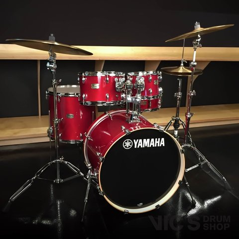 Yamaha Stage Custom Birch 5 Piece Shell Pack in Cranberry Red