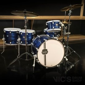 Mapex *CLOSEOUTC* Mapex MyDentity Maple 5 Piece Shell Pack in Blue Ripple Pearl w/ White Hardware