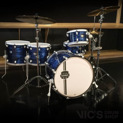Mapex MyDentity Maple 5 Piece Shell Pack in Blue Ripple Pearl w/ White Hardware