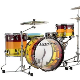 Ludwig Ludwig Vistalite Tequila Sunrise 3 Piece Shell Pack
