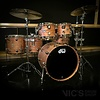 DW Collector's Pure Oak 6 Piece Shell Pack in Natural Hard Satin Finish w/ Nickel Hardware
