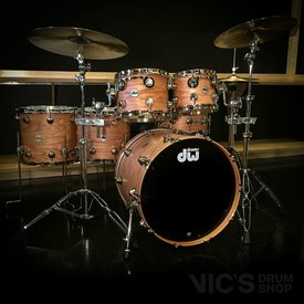 DW DW Collector's Pure Oak 6 Piece Shell Pack in Natural Hard Satin Finish w/ Nickel Hardware