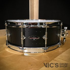 Craviotto Craviotto Solitaire Series 5.5x14 Snare Drum in Matte Black Finish
