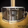 Craviotto Solitaire Series 6.5x14 Snare Drum in Aged Pewter Finish