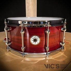 Sakae Sakae 6.5x14 Bubinga Snare Drum in Amber Sunburst