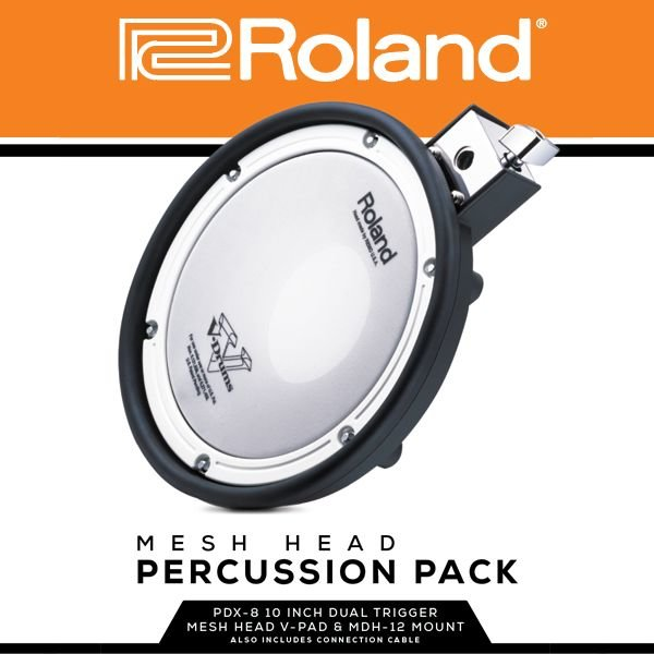 Roland Roland Mesh Head Percussion Pack; Includes x1 PDX-8, x1 MDH-12