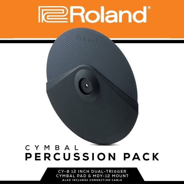 Roland Roland Cymbal Percussion Pack; Includes x1 CY-8, x1 MDY-12