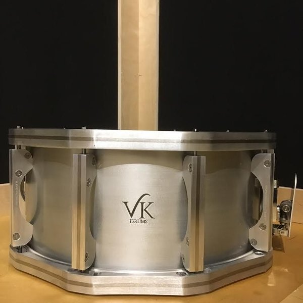 VK Drums Hybrid Aluminum 6.5x14 Snare Drum w/ Stainless/Ally Hoops And Lugs