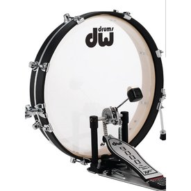 DW DW Pancake Bass Drum w/ Hoop Clamp Spurs