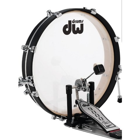 DW Pancake Bass Drum w/ Hoop Clamp Spurs